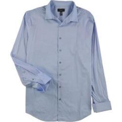 Alfani Mens Stretch Button Up Dress Shirt (Blue - 15