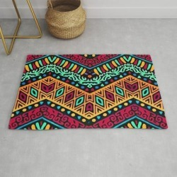 African Style No1 Modern Throw Rug by Distinctydesign - 2' x 3' found on Bargain Bro Philippines from Society6 for $39.20