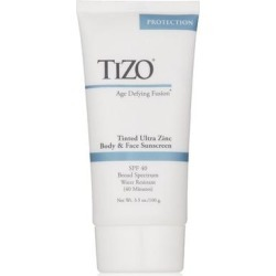 Tizo Age Defying Fusion tinted Ultra Zinc Body & Face Sunscreen SPF 40 3.5 Oz (Body Sunscreen), Grey found on Bargain Bro Philippines from Overstock for $37.79