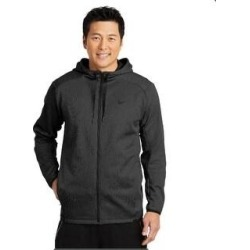Nike Therma-FIT Textured Fleece Full-Zip Hoodie (2XL - Black), Men's found on Bargain Bro from Overstock for USD $65.73
