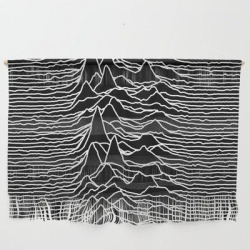 """Wall Hanging   Joy Division - Unknown Pleasures by Hein - Large 47"""" x 32 1/4"""" - Society6"""