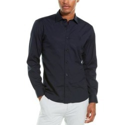 Burberry Monogram Motif Stretch Poplin Woven Shirt (XL), Men's, Blue found on MODAPINS from Overstock for USD $373.99