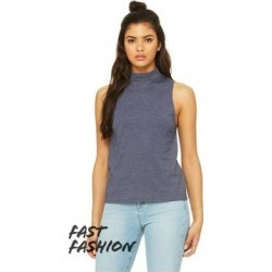 Fast Fashion Women's Mock Neck Tank (Solid White Blend - L)(cotton) found on Bargain Bro India from Overstock for $28.00