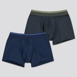 UNIQLO Boy's Airism Boxer Briefs (Set Of 2), Navy, 13Y(160) found on Bargain Bro India from Uniqlo for $9.90