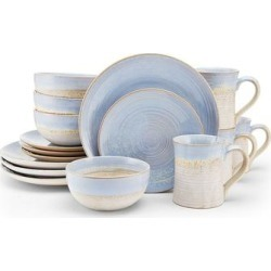 Mikasa Tanner 16 pc. Dinnerware Set, Blue found on Bargain Bro Philippines from Kohl's for $160.99