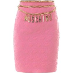 X Smiley© Quilted Skirt - Pink - Moschino Skirts found on Bargain Bro Philippines from lyst.com for $849.00