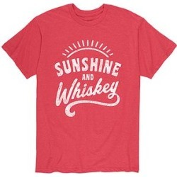 Instant Message Mens Men's Tee Shirts HEATHER - Heather Red 'Sunshine and Whiskey' Tee - Men