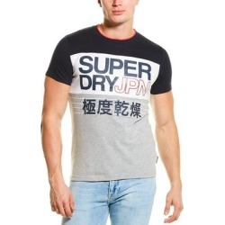 Superdry Crafted Print Colorblocked T-Shirt (M), Men's, Blue found on Bargain Bro India from Overstock for $19.79