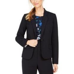 Calvin Klein Women's Single-Button Blazer Blue Size 6 (Blue) found on Bargain Bro from Overstock for USD $19.70