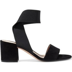 Hailee 60 Elastic And Suede Sandals - Black - Gianvito Rossi Heels found on Bargain Bro Philippines from lyst.com for $312.00