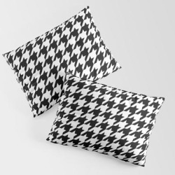 Houndstooth King Size Pillow Sham by Color Obsession - STANDARD SET OF 2 - Cotton