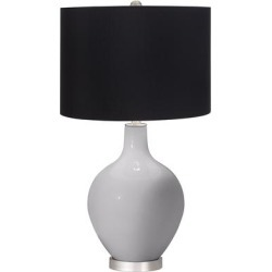 Swanky Gray Ovo Table Lamp with Black Shade found on Bargain Bro Philippines from LAMPS PLUS for $169.98