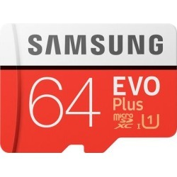 Samsung EVO Plus 64GB micro SD Memory Card found on Bargain Bro from Crutchfield for USD $14.43