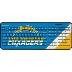 Los Angeles Chargers Diagonal Stripe Wireless Keyboard found on Bargain Bro from nflshop.com for USD $45.59