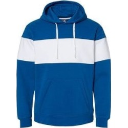 Varsity Fleece Colorblocked Hooded Sweatshirt (Royal - XS), Men's, Blue found on MODAPINS from Overstock for USD $48.17
