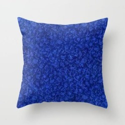 Throw Pillow   Vintage Floral Sapphire Blue by Sara Valor - Cover (16