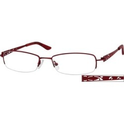 Zenni Women's Lightweight Rectangle Prescription Glasses Half-Rim Red Stainless Steel Frame found on Bargain Bro India from Zenni Optical for $19.00