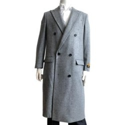 Mens Wool Belted Overcoat Camel Full Length Belt-Coat By Alberto Nardoni Brand Designer (XXL - Brown), Men's found on Bargain Bro from Overstock for USD $151.99