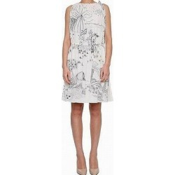 Valentino Womens White Ivory Size 4 Printed Tie-Shoulder Sheath Dress, Women's, Multicolor(Sequin) found on Bargain Bro Philippines from Overstock for $1920.98