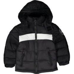 Reebok Boys' Puffer Coats Black/White/Charcoal - Black & White Color Block Puffer Coat - Toddler found on Bargain Bro from zulily.com for USD $10.65