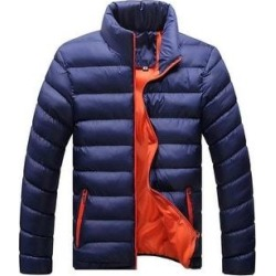 Man Down Coat Slim Warm Cotton Coat Dark Blue Only M (XL), Men's found on MODAPINS from Overstock for USD $48.11