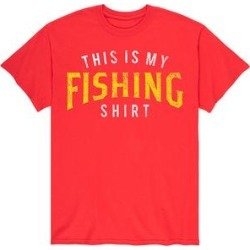 Instant Message Mens Men's Tee Shirts RED - Red 'This Is My Fishing Shirt' Tee - Men