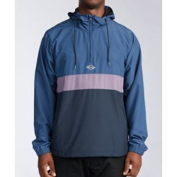 Billabong Men's Windbreakers and Shell Jackets Navy - Navy Color Block Windswell Windbreaker - Men found on Bargain Bro Philippines from zulily.com for $29.99