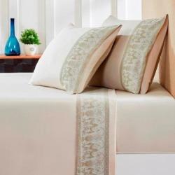 Jacquard Sheet Set Queen Sandstone