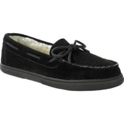 Wide Width Suede Tracker Slippers by KingSize in Black (Size 9 W) found on Bargain Bro Philippines from Brylane Home for $80.99