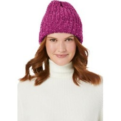 Plus Size Women's Chenille Winter Hat by Woman Within in Raspberry found on Bargain Bro Philippines from fullbeauty for $29.99