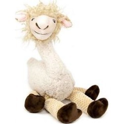 Fab Dog Floppy Llama Squeaky Plush Dog Toy, Small