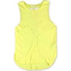Vans Womens Shaded And Braided Tank Top, Yellow, X-Large (X-Large), Women's(cotton, solid) found on Bargain Bro from Overstock for USD $14.71