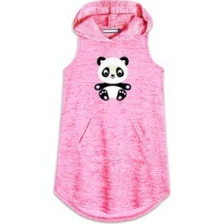 Neatie Kiddie Girls' Casual Dresses - Neon Pink Panda Hooded Shift Dress - Girls found on Bargain Bro Philippines from zulily.com for $19.99