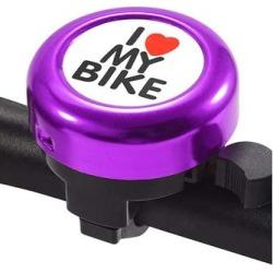 Tech Zebra Bike Accessories Purple - Purple 'I Love My Bike' Handlebar Bell found on Bargain Bro from zulily.com for USD $6.83
