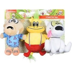 Fetch For Pets Nickelodeon Rocko's Modern Life: Rocko, Spunky, Heffer Squeaky Plush Dog Toys, 3 count