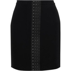 Stretch-crepe Mini Skirt - Black - Mugler Skirts found on MODAPINS from lyst.com for USD $298.00