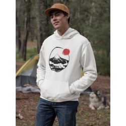 Fuji Mountain Hoodie Men's -GoatDeals Designs (S), White(cotton) found on Bargain Bro Philippines from Overstock for $35.99
