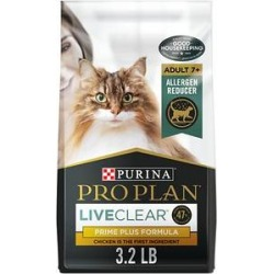 Purina Pro Plan LIVECLEAR Adult 7+ Prime Plus Longer Life Formula Dry Cat Food, 3.5-lb bag found on Bargain Bro from Chewy.com for USD $17.75