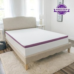 SensorPEDIC 2-Inch Advanced Cool Transcend Memory Foam Mattress Topper - White (King) found on Bargain Bro from Overstock for USD $86.25