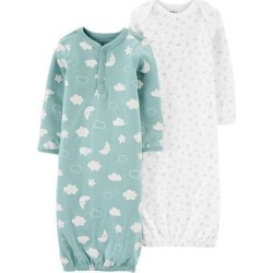 Baby Carter's 2-Pack Sleeper Gowns, Infant Boy's, Size: PREEMIE, Multi Colo