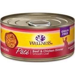 Wellness Complete Health Adult Beef & Chicken Formula Grain-Free Canned Cat Food, 5.5-oz, case of 24