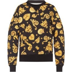 Versace Jeans Couture Men's Baroque Print Crewneck Sweatshirt Black (M)(cotton) found on Bargain Bro from Overstock for USD $189.24