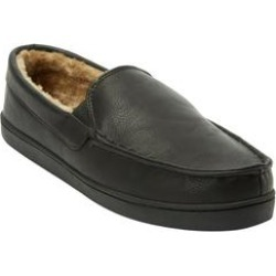 Extra Wide Width Romeo Slippers by KingSize in Black (Size 15 EW) found on Bargain Bro Philippines from Brylane Home for $53.99