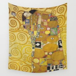 Wall Hanging Tapestry | The Embrace - Gustav Klimt by Fineartpaintings - 51