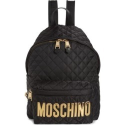 Logo Quilted Nylon Backpack - Black - Moschino Backpacks found on Bargain Bro from lyst.com for USD $551.00