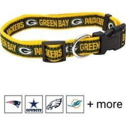 Pets First NFL Nylon Dog Collar, Green Bay Packers, Small: 6 to 12-in neck, 3/8-in wide found on Bargain Bro India from Chewy.com for $8.99