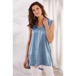 Women's Summer Romance Tunic Top & Cami by Soft Surroundings, in Mineral Blue size XS (2-4)