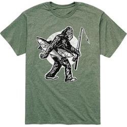 Instant Message Mens Men's Tee Shirts HEATHER - Heather Military Green Sasquatch Fishing Tee - Men