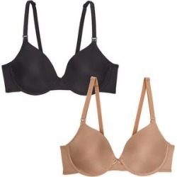 Leading Lady Women's Bras Black - Black & Warm Taupe Dreamy Comfort Maternity/Nursing Bra Set - Plus Too found on Bargain Bro India from zulily.com for $21.99