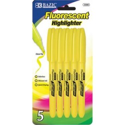 Bazic Products Writing Utensils - Yellow Fluorescent Pocket-Clip Highlighter - Set of Six found on Bargain Bro Philippines from zulily.com for $10.99